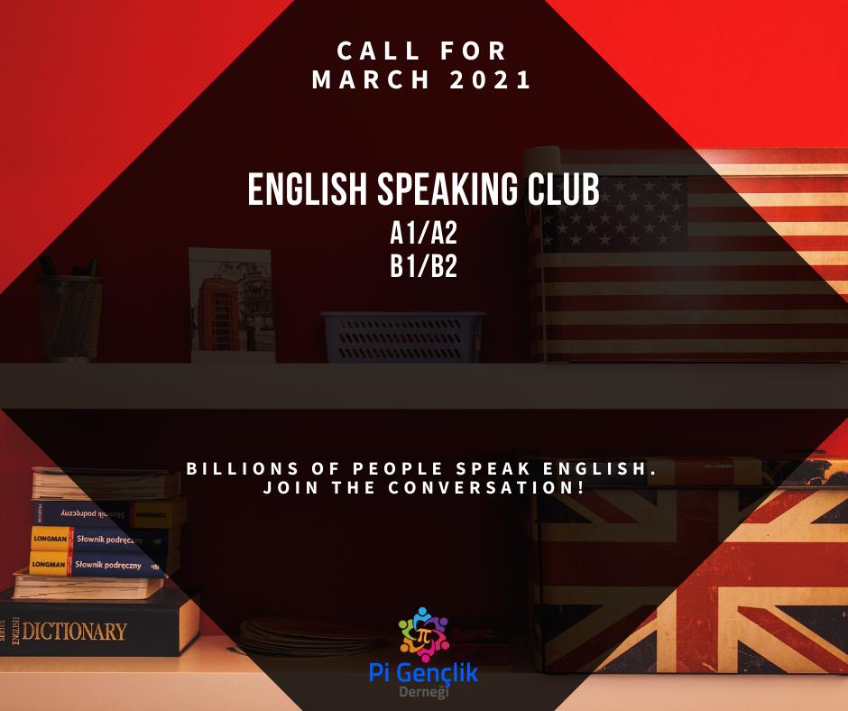 İngilizce Konuşma Kulübü Kayıt Formu (Mart 2021)