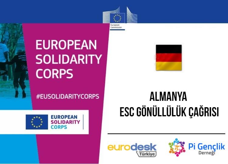 ESC-180 Almanya, ESC Gönüllülük Projesi Katılımcı Çağrısı